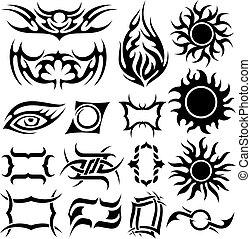 τατουάζ , θέτω
