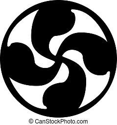 τατουάζ , σταυρός , ηλιακός , artwork