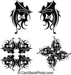 τατουάζ , φυλετικός , γραφικός διάταξη