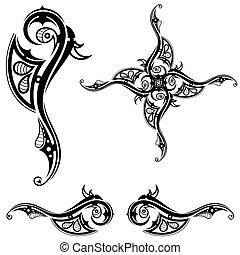 τατουάζ , φυλετικός , μαύρο