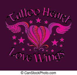 τατουάζ , φυλετικός , μικροβιοφορέας , τέχνη , καρδιά