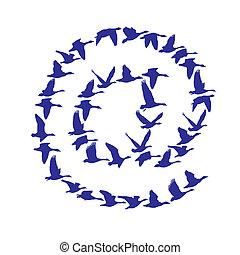 ταχυδρομώ , ιπτάμενος , χήνες , σήμα