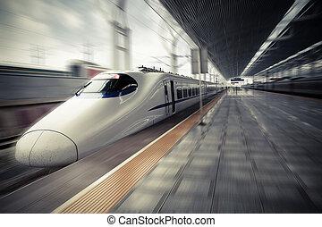 ταχύτητα , μοντέρνος , τρένο , ψηλά