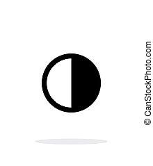 τελευταία , απλό , φεγγάρι , φόντο. , άσπρο , ένα τέταρτο , ...