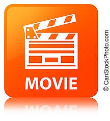τετράγωνο , ακροτομώ , ταινία , κουμπί , πορτοκάλι , icon), (cinema