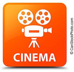 τετράγωνο , κινηματογράφοs , κουμπί , (video, φωτογραφηκή μηχανή , πορτοκάλι , icon)