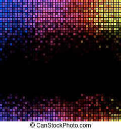 τετράγωνο , πνεύμονες ζώων , αφαιρώ , disco , φόντο. , multicolor , εικονοκύτταρο , μωσαικό