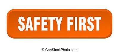 τετράγωνο , button., κουμπί , σπρώχνω , ασφάλεια , 3d , πρώτα