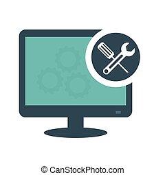 τεχνικός , υπολογιστές , υπηρεσία , εικόνα