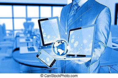 τεχνολογία , businessmen , ανάμιξη