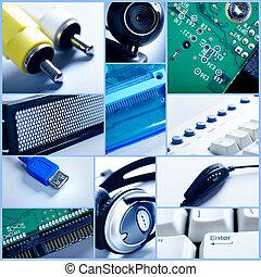 τεχνολογία , collage.