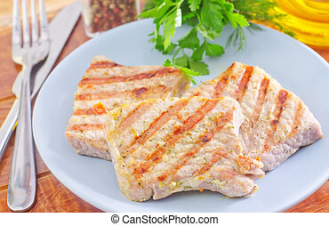 τηγανητός , κρέας
