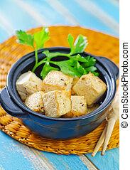 τηγανητός , tofu