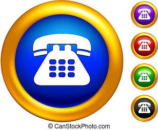 τηλέφωνο , χρυσαφένιος , σύνορα , εικόνα , κουμπιά