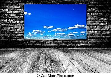τηλεόραση , lcd , μαύρο , οθόνη