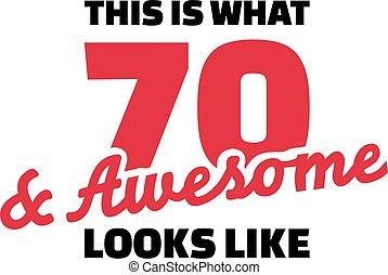 τι , αρέσω , αυτό , δεινός , - , 70th, γενέθλια , ...