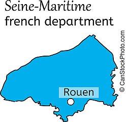 τμήμα , χάρτηs , seine-maritime , γαλλίδα