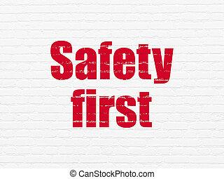 τοίχοs , άδεια ελεύθερης κυκλοφορίας ασφάλεια , φόντο , concept:, πρώτα