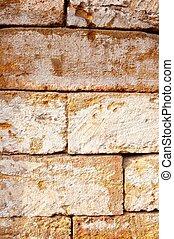 τοίχοs , αμμόπετρα