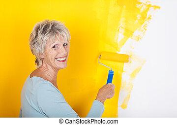 τοίχοs , αρμόδιος , ανώτερος γυναίκα , ζωγραφική