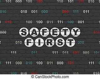 τοίχοs , ασφάλεια , concept:, φόντο , πρώτα