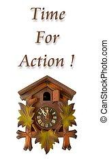 τοίχοs , δράση , ώρα , φράση , ρολόι
