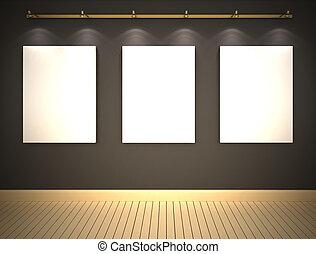 τοίχοs , εικόνες , γκρί , τρία