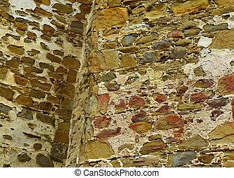 τοίχοs , κάστρο , γριά