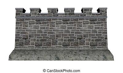 τοίχοs , κάστρο , - , render, 3d