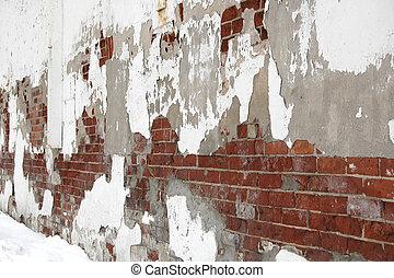 τοίχοs , καλύπτω με στόκο