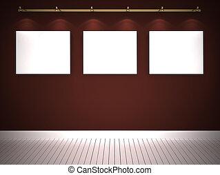 τοίχοs , καφέ , τρία , εικόνες