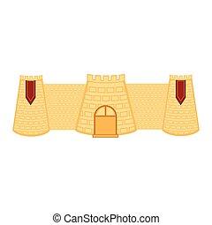 τοίχοs , κτίριο , κάστρο , απομονωμένος , μεσαιονικός