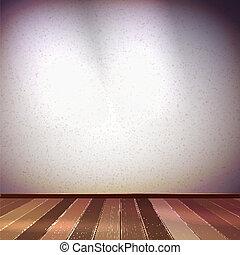 τοίχοs , με , ένα , κηλίδα , illumination., eps , 10