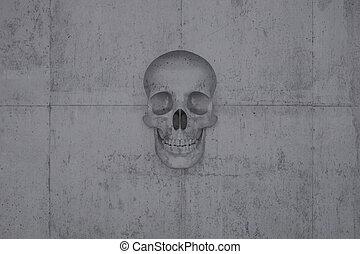 τοίχοs , μπετό , κρανίο