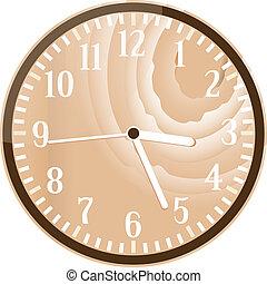 τοίχοs , ξύλο , retro , ρολόι