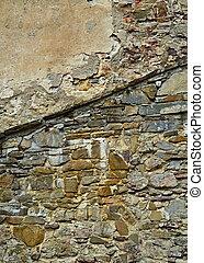 τοίχοs , πέτρα , γριά , κάστρο