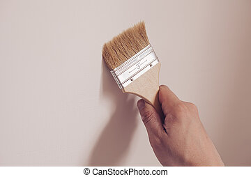 τοίχοs , σπίτι , άσπρο , ζωγραφική , ζωγράφος