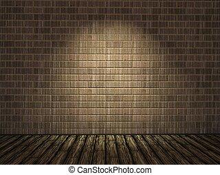 τοίχοs , τούβλο , γριά