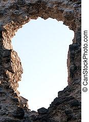 τοίχοs , τρύπα