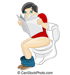 τουαλέτα , διάβασμα