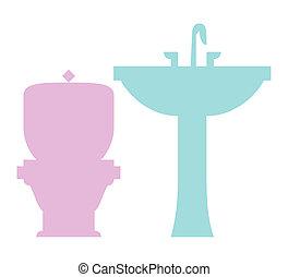 τουαλέτα , θέτω