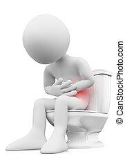 τουαλέτα , κοιλόπονος , ακόλουθοι. , άσπρο , 3d , άντραs