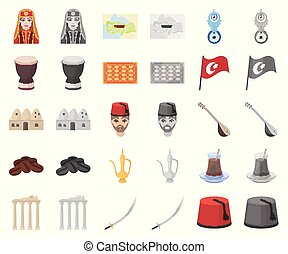 τουρκία , γελοιογραφία , θέτω , illustration., απεικόνιση ,...