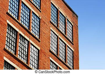 τούβλο , γριά , εργοστάσιο , κόκκινο