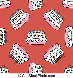 τούρτα γενεθλίων , με , κερί