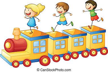 τρένο , παίξιμο , μικρόκοσμος