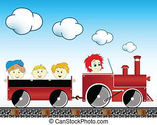 τρένο , παιδιά