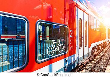τρένο , ψηλά , εξέδρα , θέση , σιδηρόδρομος , ταχύτητα