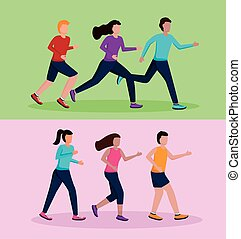 τρέξιμο , άνθρωποι , αρμοδιότητα