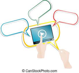 τρέξιμο , ακροτομώ , κουμπί , χέρι , αρχή , βίντεο , σπρώχνω , άγγιγμα αλεξήνεμο